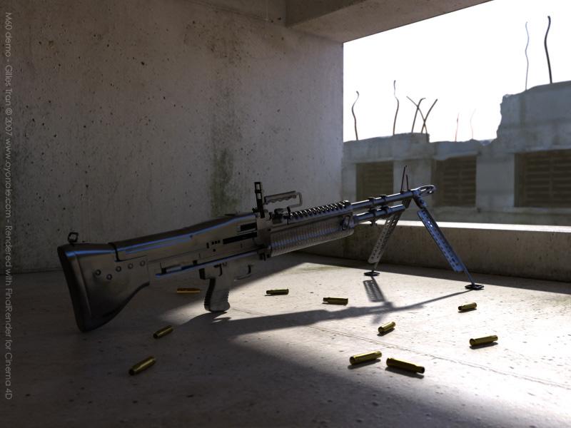 M60 machine gun (C4D/fR,OBJ)