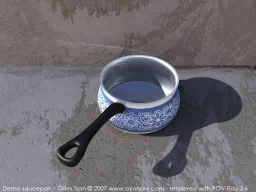 Saucepan (POV-Ray,C4D,OBJ)