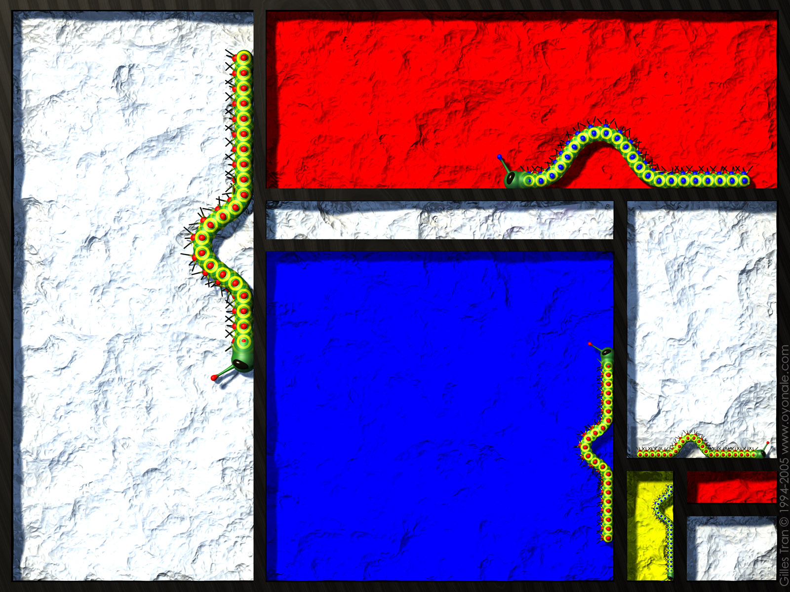 The Mondrian caterpillars