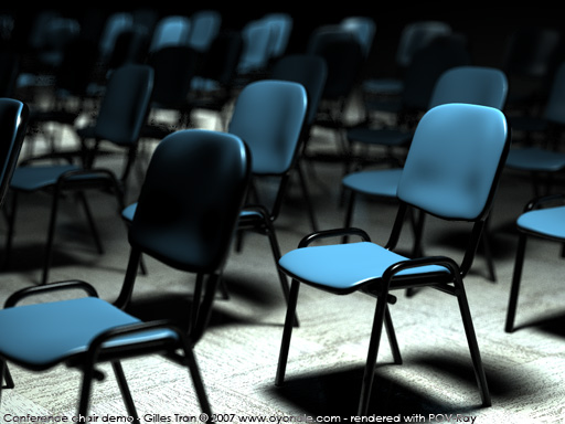 Conference chair (POV-Ray,C4D,OBJ)