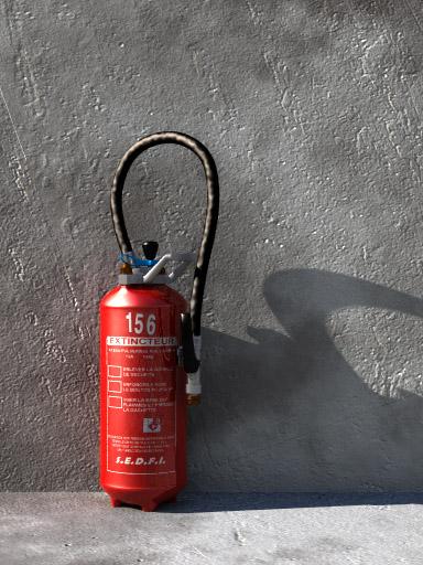 Fire extinguisher (POV-Ray,C4D,OBJ)