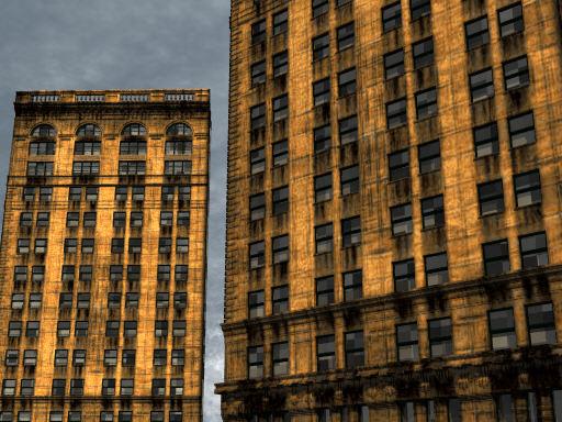 New York building (POV-Ray)