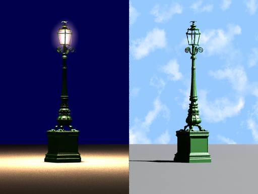 19th c. Paris lamplight (POV-Ray)