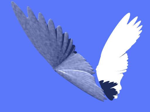 Angel wings (POV-Ray)