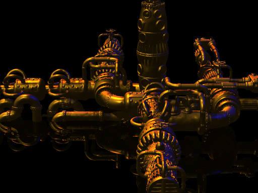 Pipes generator (POV-Ray)