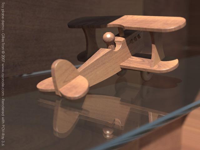 Toy plane (POV-Ray,C4D,OBJ)